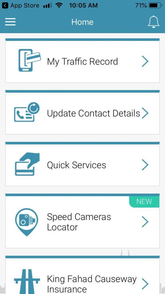 The New Update On Bahrain's eTraffic App localbh