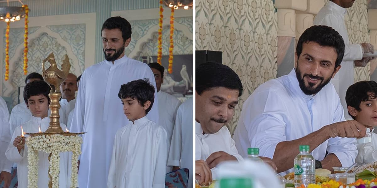 HH Sheikh Nasser bin Hamad Al Khalifa Celebrating Onam
