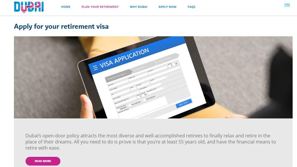 Dubai Tourism's official website