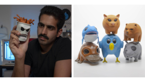 Bahraini artist with coolest toys
